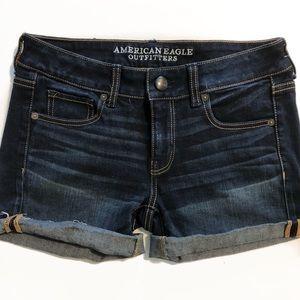 AEO Mid Rise Denim Jean Shorts